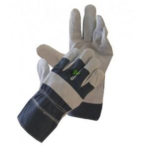 Rękawice ochronne wzmacniane skórą.