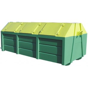 Kontener do zbiórki i przewozu odpadów.