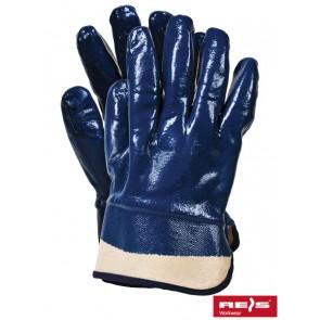 Rękawice nitrylowe na wkładzie materiałowym